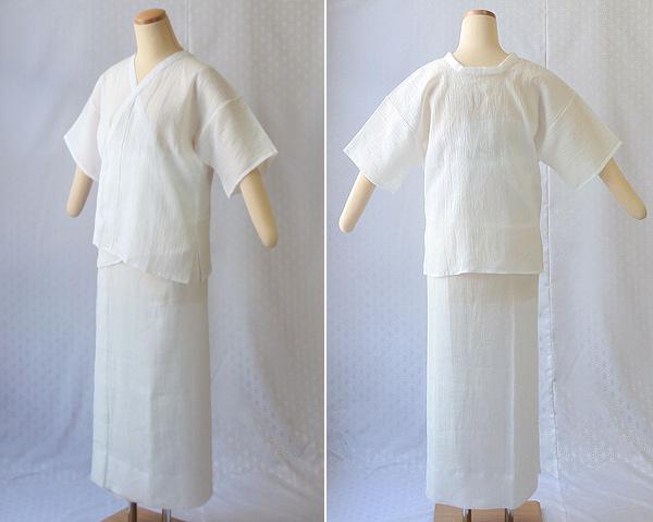 夏物和装肌着 本麻楊柳 肌着と裾除けのイメージ