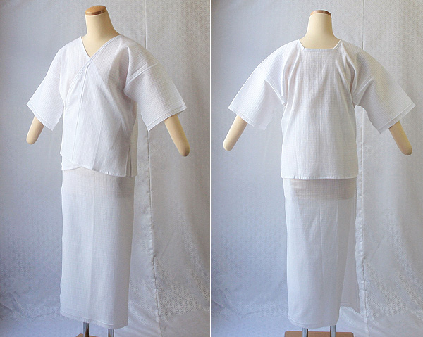 夏物和装肌着 綿麻楊柳 肌着と裾除けのイメージ