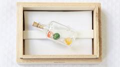 ガラス帯留め ボトル (01)