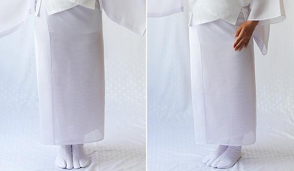 ベンベルグ絽 衿付裾除け イメージ