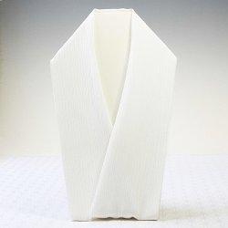 画像1: 単衣用白半襟 無地 正絹 きんち(楊柳)