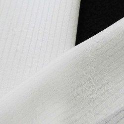 画像1: 夏物白半襟 化繊素材 ポリエステル 竪絽