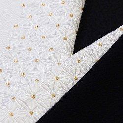 画像1: 黒留袖(礼装用)半襟 【正絹素材】 麻の葉