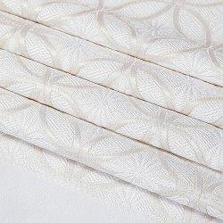 画像1: 黒留袖(礼装用)帯揚げ 紋意匠 金糸縫い取り <七宝づめ (白/金)>