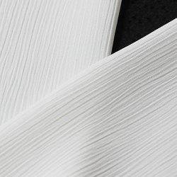 画像1: 単衣用白半襟 化繊素材 ポリエステル きんち(楊柳)