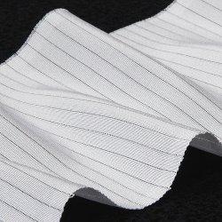 画像1: 夏物白半襟 天然素材 正絹 絽  塩瀬
