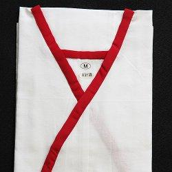 画像1: 和装肌着 さらし 婚礼用肌着 赤 (M)