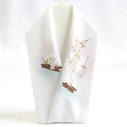 画像1: 手描き半襟 桜花筏