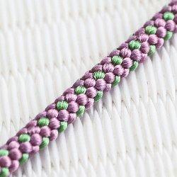 画像1: 懐中時計紐 八津組 ホタル 短サイズ 古代紫(こだいむらさき)/緑青色(ろくしょういろ)(07)