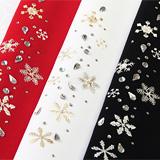 ポリエステル刺繍半襟 雪花紋