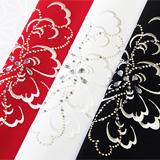ポリエステル刺繍半襟 リボンフラワー