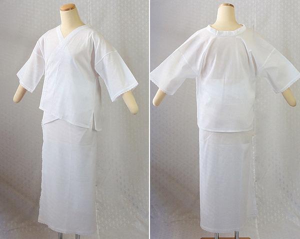 夏物和装肌着 クレープ 肌着と裾除けのイメージ
