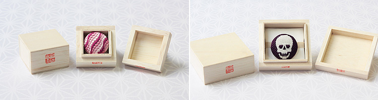 絽刺し帯留め 木箱