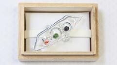 ガラス帯留め お豆さん (01)
