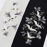 手刺繍半襟 松に鶴