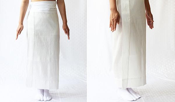 夏物和装肌着 本麻楊柳 裾除けのイメージ