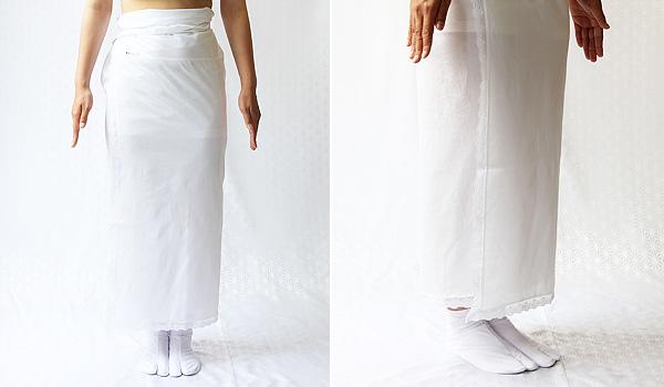 夏物和装肌着 ギザ(GIZA) 裾除けのイメージ