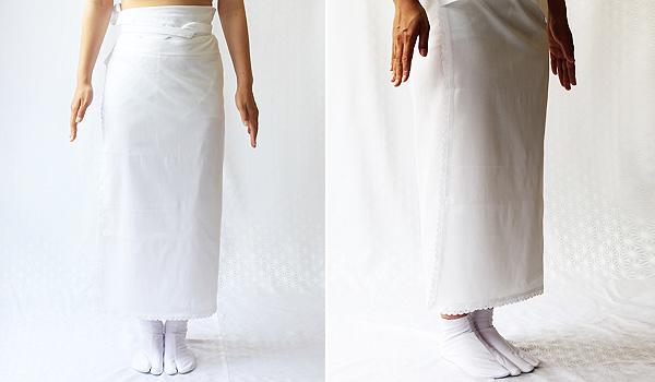 夏物和装肌着 クレープ 裾除けのイメージ