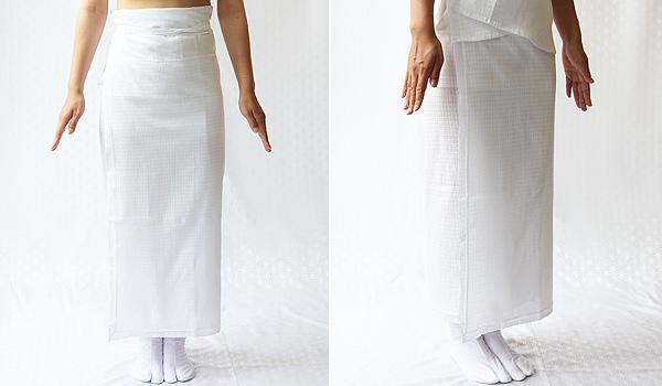 夏物和装肌着 綿麻楊柳 裾除けのイメージ