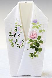 夏物手描き半襟 紫陽花