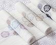 麻絽 刺繍半襟 雪輪紋