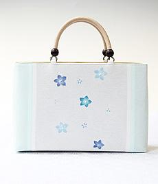 夏物KIMONOバッグ 三色桔梗 BLUE(水色)