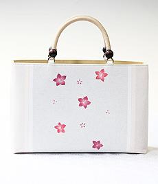 夏物KIMONOバッグ 三色桔梗 RED(ピンク)