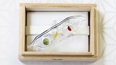 ガラス帯留め お豆さん (05)