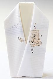 夏物手描き半襟 ボトルレター
