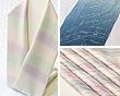 三色段染め、JAPAN BLUE、紋紗 柳立涌三色たづなぼかし