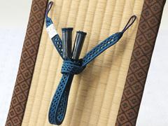 夏用羽織紐 濃藍(14)
