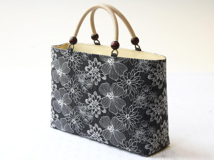 コットン刺繍<チャコールグレー> サイド
