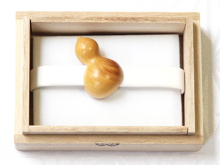 黄楊帯留め 瓢箪 箱に入ったイメージ