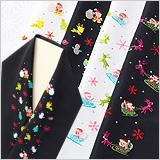ポリエステル刺繍半襟 クリスマス