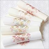 刺繍半襟 丸紋桜