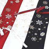 刺繍帯揚げ 雪花紋