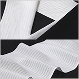 夏物白半襟 天然素材 正絹 紋紗立縞
