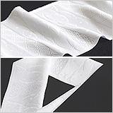 白半襟 柄 正絹紋意匠 雪輪露芝